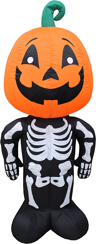BZB Goods Tulsa Mall 4 Foot Tall Halloween Blow Cheap bargain Pumpkin Man Inflatable Head
