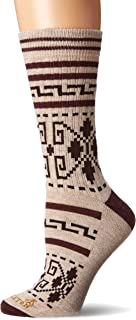 Pendleton Women's Camp Crew Socks, Westerley Brown, Medium (Fits Women's 6-10/ Men's 5-9)