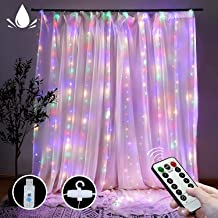 Curtain String Lights with Remote, LT 300 LEDs Window Curtain Fairy Lights 8 Modes 9.8ftx9.8ft USB Powered Fairy Lights fo...