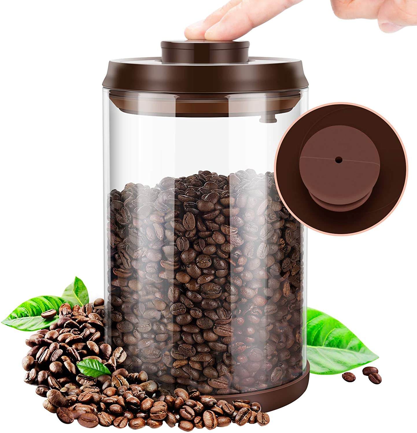 Coffee canister Fees free Airtight Storage Container Gl Beans Regular dealer Large