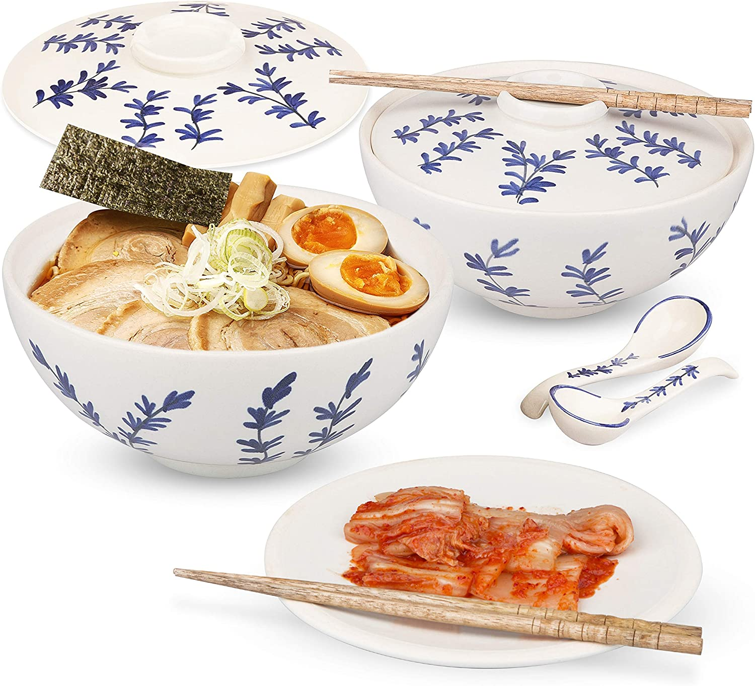 Ceramic Ramen Noodle Bowls - Full Set Two of 50oz wholesale Special price l Large with