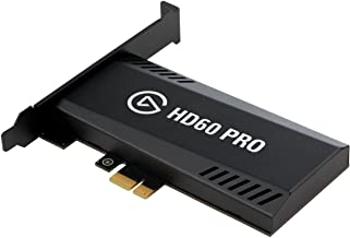 Elgato Game Capture HD60 Pro - Stream and record in 1080p60, superior low latency technology, H.264 hardware encoding, PCIe, black