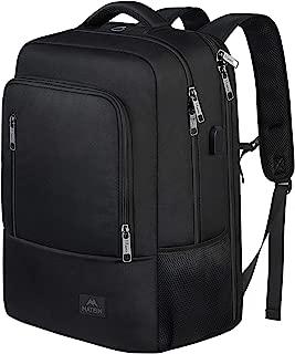 Business Laptop Backpack, Large Slim 17 inch Laptop Backpack with USB Port, Lightweight Water Resistant TSA Travel Bag Computer Notebook College School Bookbag for Men Women, Black