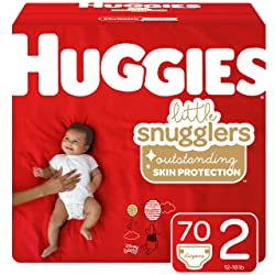 Huggies Little Snugglers Baby Diapers, Size 2 (12-18 lb.), 70 Ct, Big Pack (Packaging May Vary)