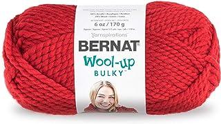 Bernat Wool-Up Bulky Yarn, 6 Ounce, Red, Single Ball