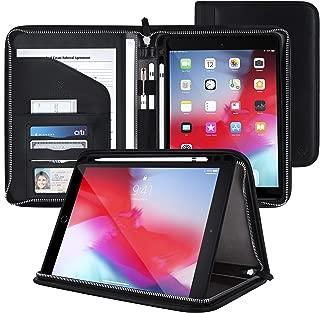 rooCASE Wilshire Case - iPad 10.2 2019 Executive Portfolio Case - Magnetic Detachable iPad Case, Organizer, Apple Pencil Holder for iPad 7th Generation 10.2-inch 2019, Black
