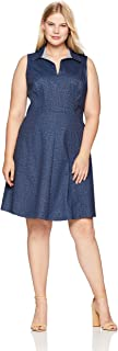 Best sleeveless plus size denim dress Reviews