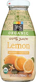 365 Everyday Value, Organic 100% Juice Not From Concentrate, Lemon, 10 fl oz