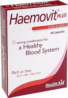 HealthAid Haemo-vit Plus - Iron. B6. Folic Acid - 30 Capsules