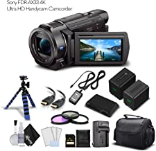 Best sony fdr ax33b 4k flash memory camcorder Reviews