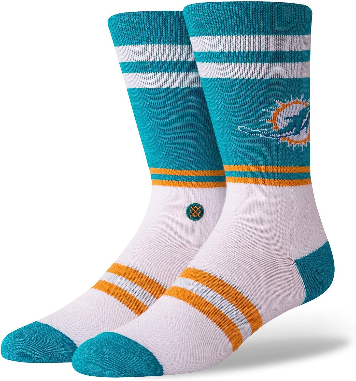 Stance M558C18DOS Men's Dolphins Logo Sock, Teal - Medium (6-8.5)