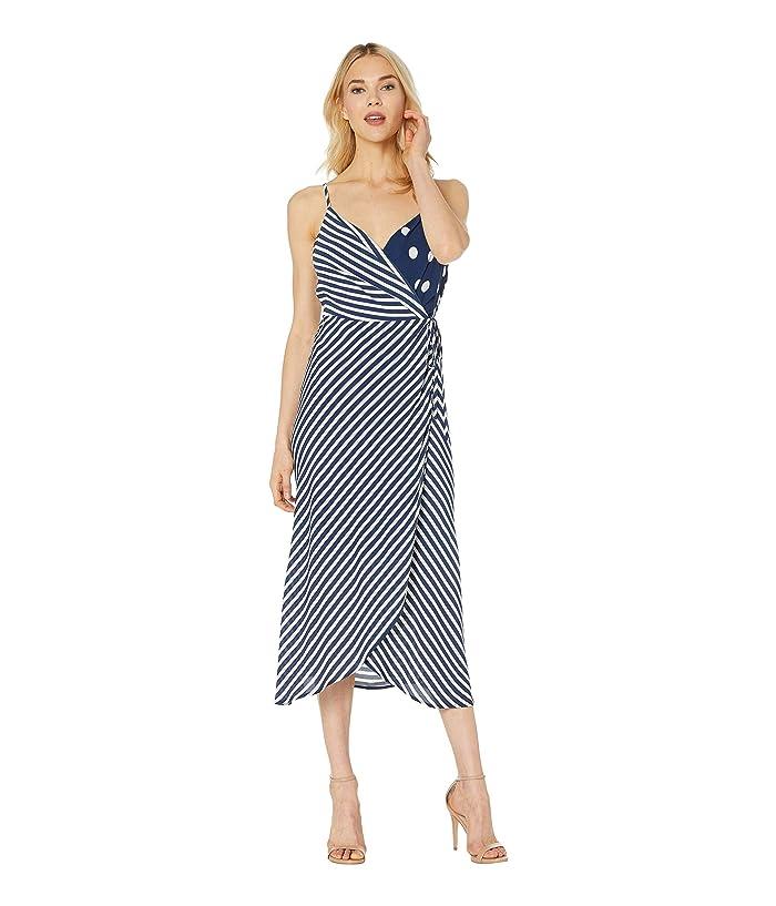 8b4397258 Vince Camuto Sleeveless Modern Stripe Mix Print Wrap Dress at Zappos.com