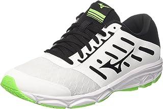 MIZUNO J1GE183809 EZRUN Men's Running Shoes, White/Black/Green