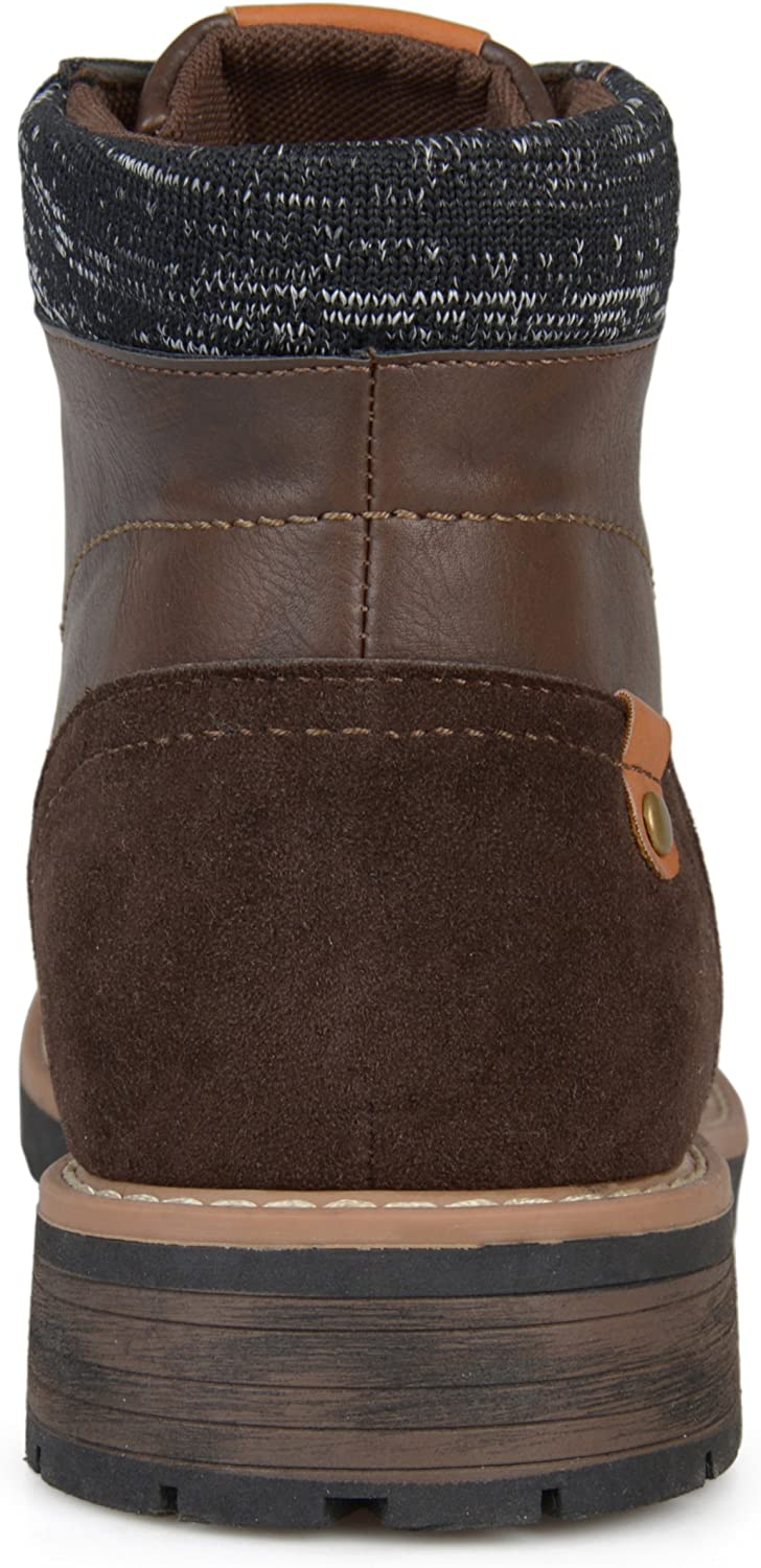 Vance Co Mens Faux Leather Lace-up Boots