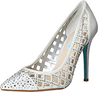 Blue by Betsey Johnson Women's SB-Mella Pump, silver shimmer, 7.5 M US