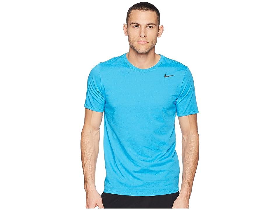 Nike Dri-FITtm Version 2.0 T-Shirt (Equator Blue/Blue Gale/Heather/Black) Men