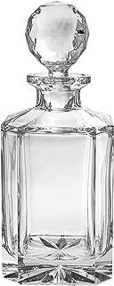 Barski - European Quality - Crystal - Whiskey - Liquor - Square Shaped - Decanter - Classic Clear - 30 oz. - 10