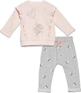 Minnie Mouse Baby-Girls Long-Sleeve T-Shirt Jogger Pants...