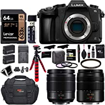 $699 » Panasonic LUMIX G85MK 4K Mirrorless Interchangeable Lens Camera Kit, Vario 12-60mm and 45-150mm Lens, Lexar U3 64GB Memory Card, 2 Spare Batteries, Charger, Bag and Accessory Bundle