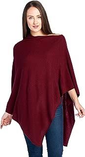 Women's 100% Cashmere Soft Travel Wrap Poncho Sweater