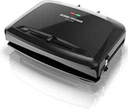 George Foreman Rapid Grill Series, 5-Serving Removable Plate Electric Indoor Grill and Panini Press, Black, RPGV3801BK
