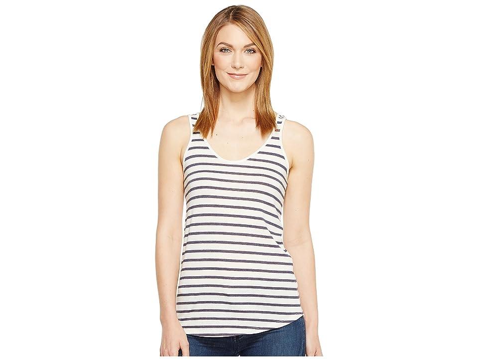 Alternative Castaway Eco-Jersey Stripe Tank Top (Midnight Seaside Stripe) Women