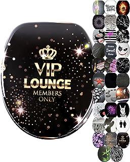 Abattant WC frein de chute soft close - Grande sélection de abattants wc noirs - Finition de haute qualité (VIP Lounge)