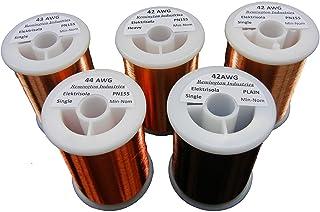 Pickup Winders Kit #4 - 42, 42 Heavy, 42 Plain Enamel, 43 & 44 AWG Copper Magnet Wire - 1.0 lbs
