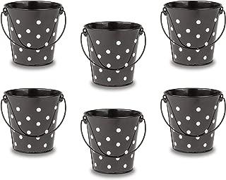 Teacher Created Resources Buckets Set, Set of 6, Black Polka Dots (TCR6059)