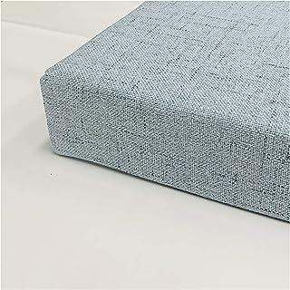 wangk Cojín para Banco,para Interior y Exterior,Espesar Esponja Acolchada Cojín De Banco,Varios tamaños Gris Azul-Azul Gris 150x40x10cm(59x16x4in)