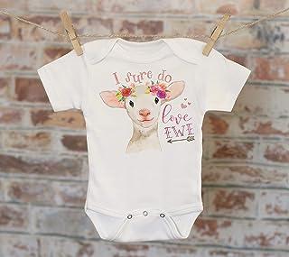 I Sure Do Love Ewe Lamb Onesie®, Funny Onesie, Cute Onesie, Animal Onesie, Cute Baby Bodysuit, Boho Baby Onesie, Girl Onesie
