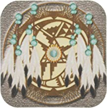 3dRose CST_108094_1 Designer One of A Kind Native American Art-Soft Coasters, Set of 4