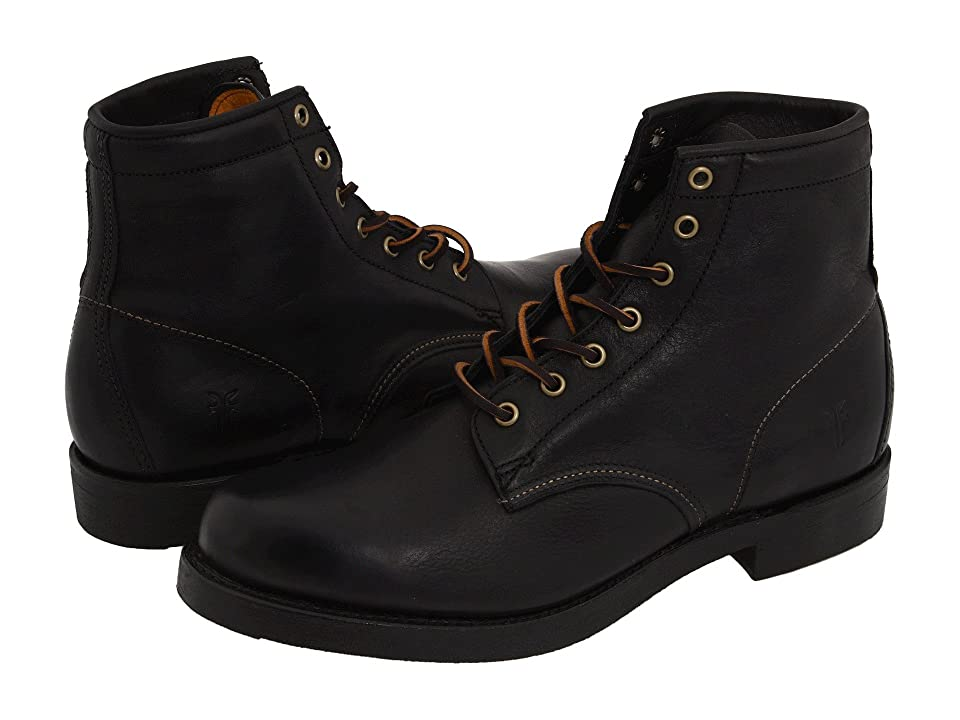 Frye Arkansas Mid Lace (Black Full Grain Leather) Men