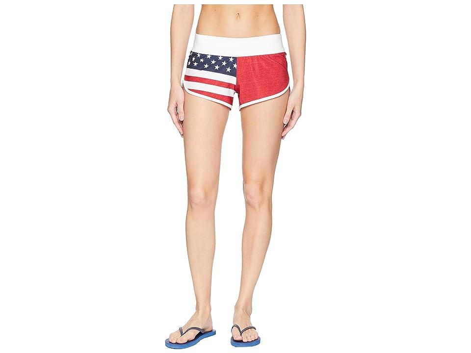 Hurley USA Phantom Cheers Beachrider Boardshorts (Gym Red) Women