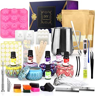 Candle Making Kit 2.2 Pound All-Natural Soy Wax Flakes DIY Candle Making Kit DIY Soy Wax Scented for Adults Make Candles a...