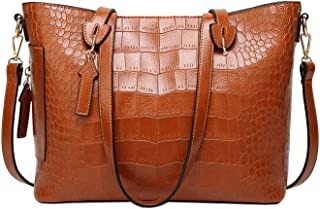 TOOGOO Women Satchel Shoulder Bags Purses and Handbags Tote Clutches Woman Bags Crossbody Bag Messenger Fashion Top Handle Bags,Brown