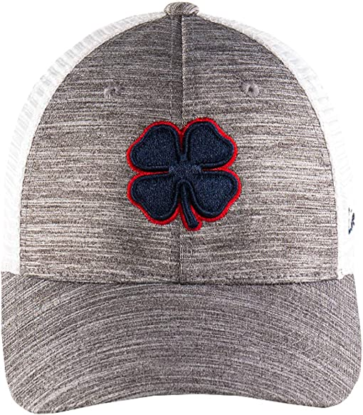 Navy Clover/Red Trim/Grey/White