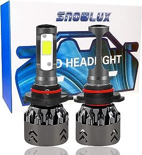 9006 Car LED Headlight Bulbs Conversion Kit, SNOWLUX Mini 6 Series Low Beam/Fog Light Bulb- 7600LM 6000K Cool White