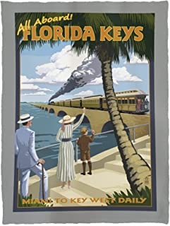 Lantern Press Key West, Florida - Railroad 33342 (60x80 Poly Fleece Thick Plush Blanket)