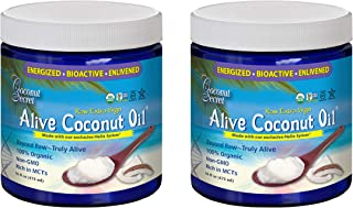 Coconut Secret Alive Coconut Oil (2 Pack) - 16 fl oz - Raw Extra Virgin Coconut Oil for Skin, Cooking, High in MCTs - Orga...