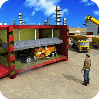Tugurio Camión Grúa de trituración Juego del operador Basura Depósito de chatarra Simulador Aparcamiento Aventura de conducción Juegos Para niños