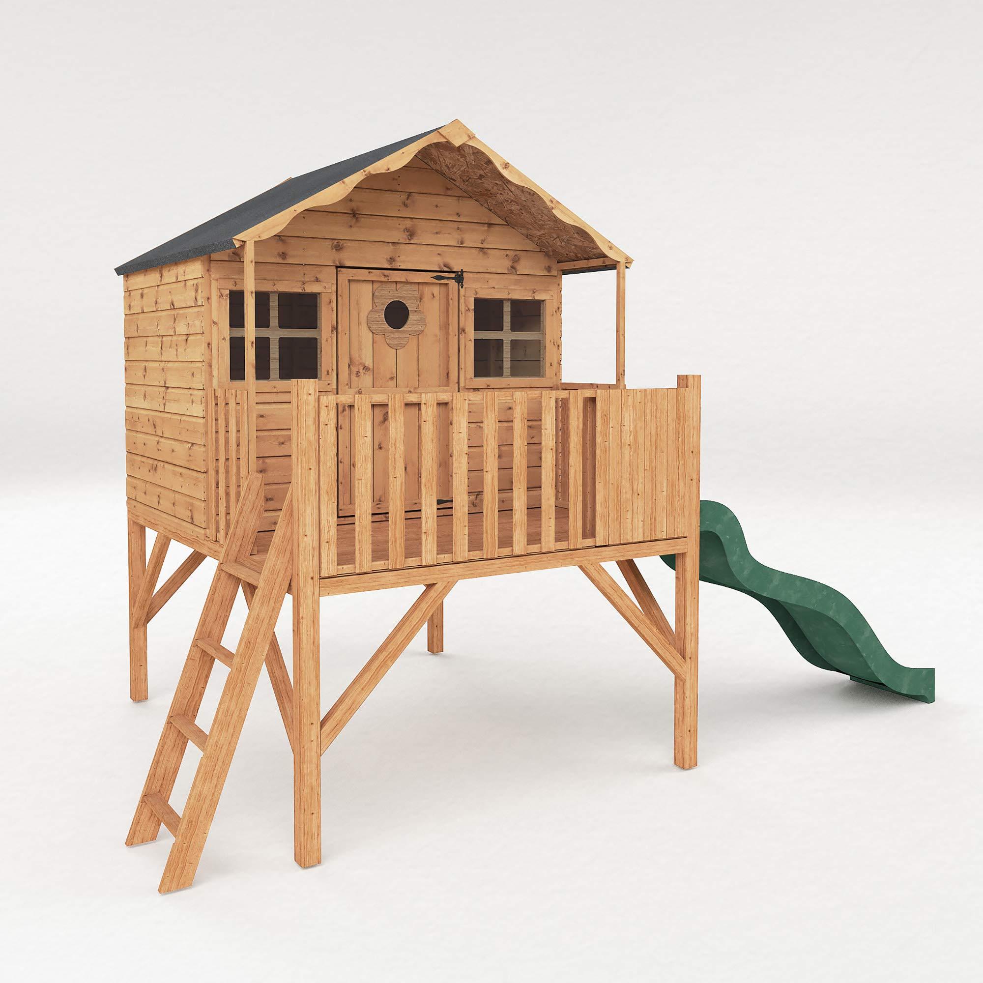 """Caseta infantil en madera, elevada y con tobogán, seguridad aprobada EN71, """"Honeysuckle"""" de Waltons.: Amazon.es: Jardín"""