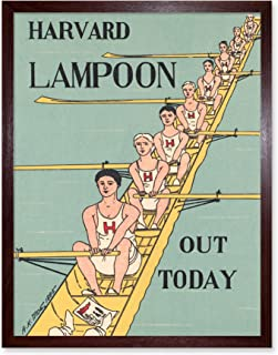 Harvard Lampoon Rowing Boat Advert Art Print Framed Poster Wall Decor 12x16 inch ボート 広告 ポスター 壁 デコ