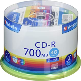 三菱ケミカルメディア Verbatim 1回記録用 CD-R SR80FP50V1 (48倍速/50枚)