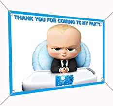 Boss Baby Banner Large Vinyl Indoor or Outdoor Banner Sign Poster Backdrop, party favor decoration, 30