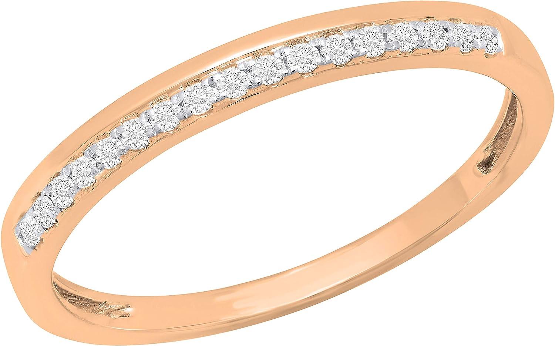 Dazzlingrock Collection 0.11 Carat Atlanta Mall ctw Round Ladies specialty shop Br Diamond