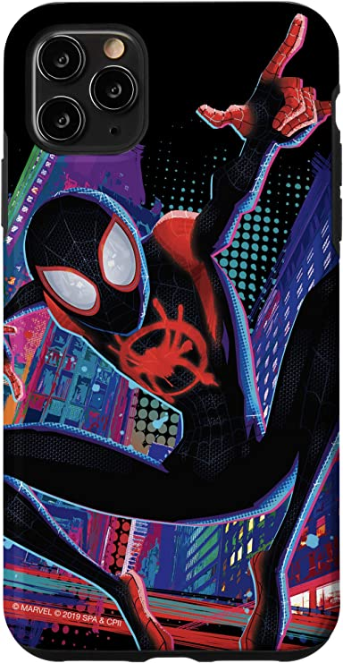 iPhone 11 Marvel Spider-Man Into the Spider-Verse Miles Morales City Case