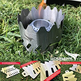 Goshawk Stainless Steel Alcohol Stove Windshield Bracket Hiking Camping Ultralight Backpacking
