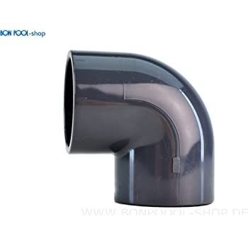 PVC Winkel 90° DA 50 Pool Teich Schwimmbad Schwimmbecken Rohr 50mm