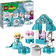 LEGO10920DUPLOFrozenIIElsaandOlaf'sIcePartyToy,LargeBricksSetwithCupcakesandTeapotforToddlers2+YearOld